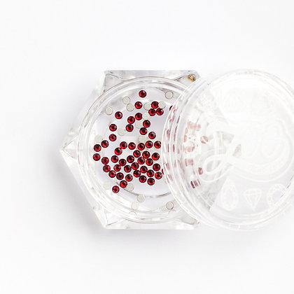 Стразы стеклянные №1130 Siam SS3 (1.3 мм) 100 шт