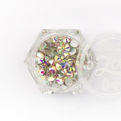 Стразы стеклянные №1092 прозрачные AB голография SS16 (4 мм) 100 шт