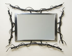 Custom metal mirror frame