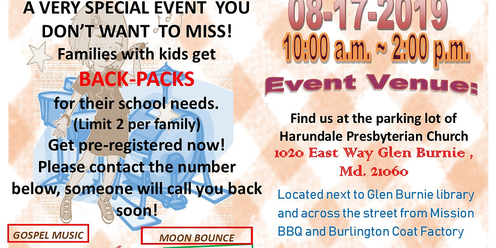 Cookout and Backpack Giveaway