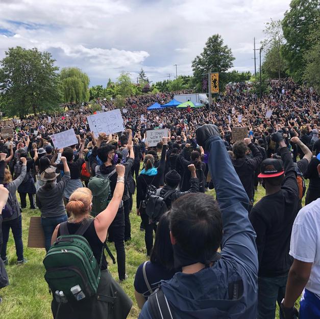 Othello Park Crowd