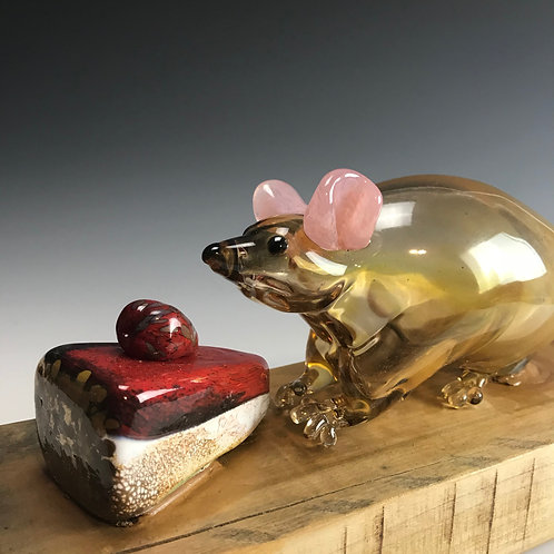 Blown Glass Obesity Gene Mouse