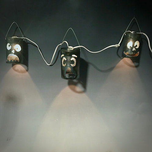 String of Tin Can Face Lights