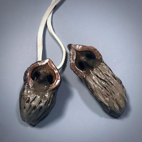 Walnut Owl Pendants