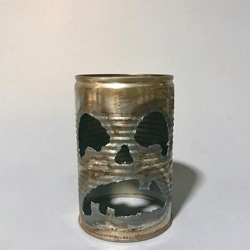 Tin Can Jack-o-lanterns Faces
