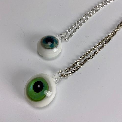 Glass Eyeball Necklace