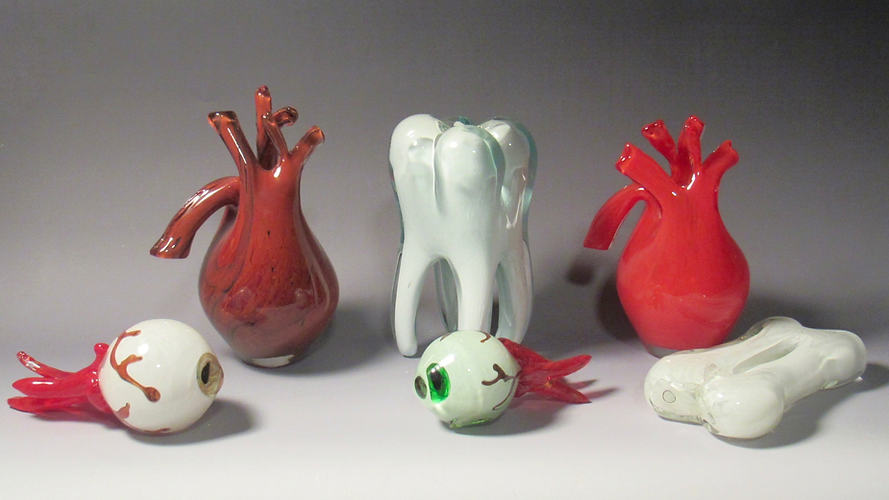 Blown Glass Anatomy Sculpture