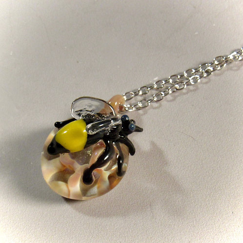 Blown Glass Bee Necklace