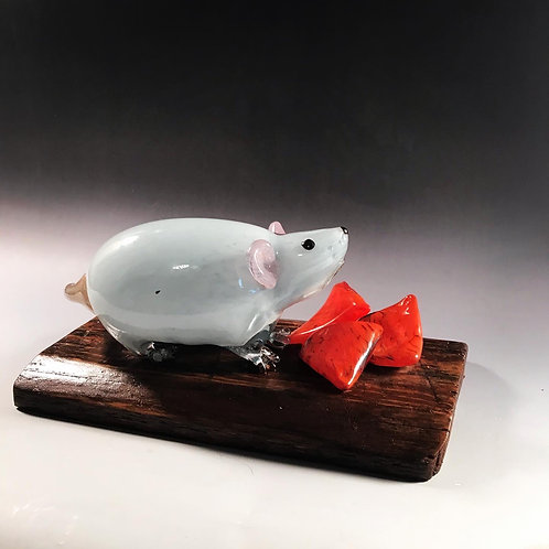 Blown Glass Obesity Gene Mouse