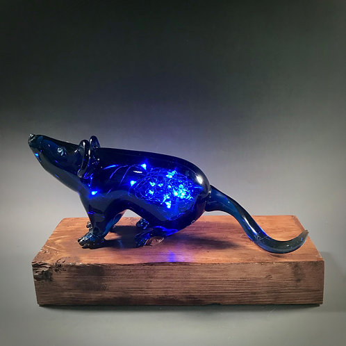 Blown Glass Alzheimer's Study Mouse