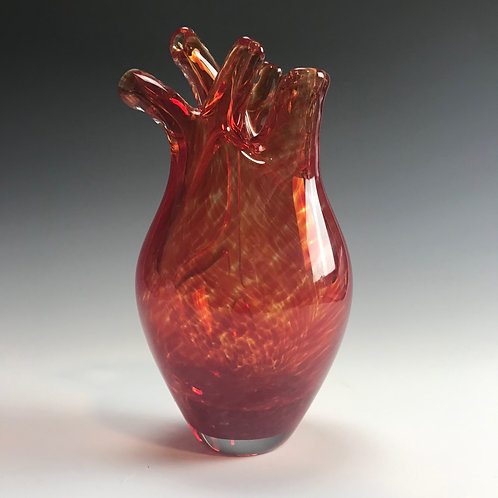 Anatomical Transparent Red Glass Heart