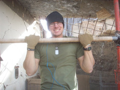 Eric on deployment in 2010-11