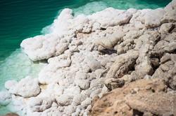 Salt deposits in the Dead Sea