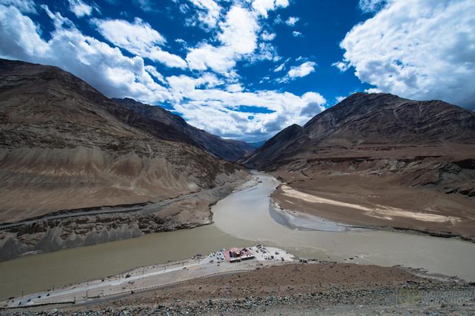 Sangam, Where the mighty Indus meets the wild Zanskar river