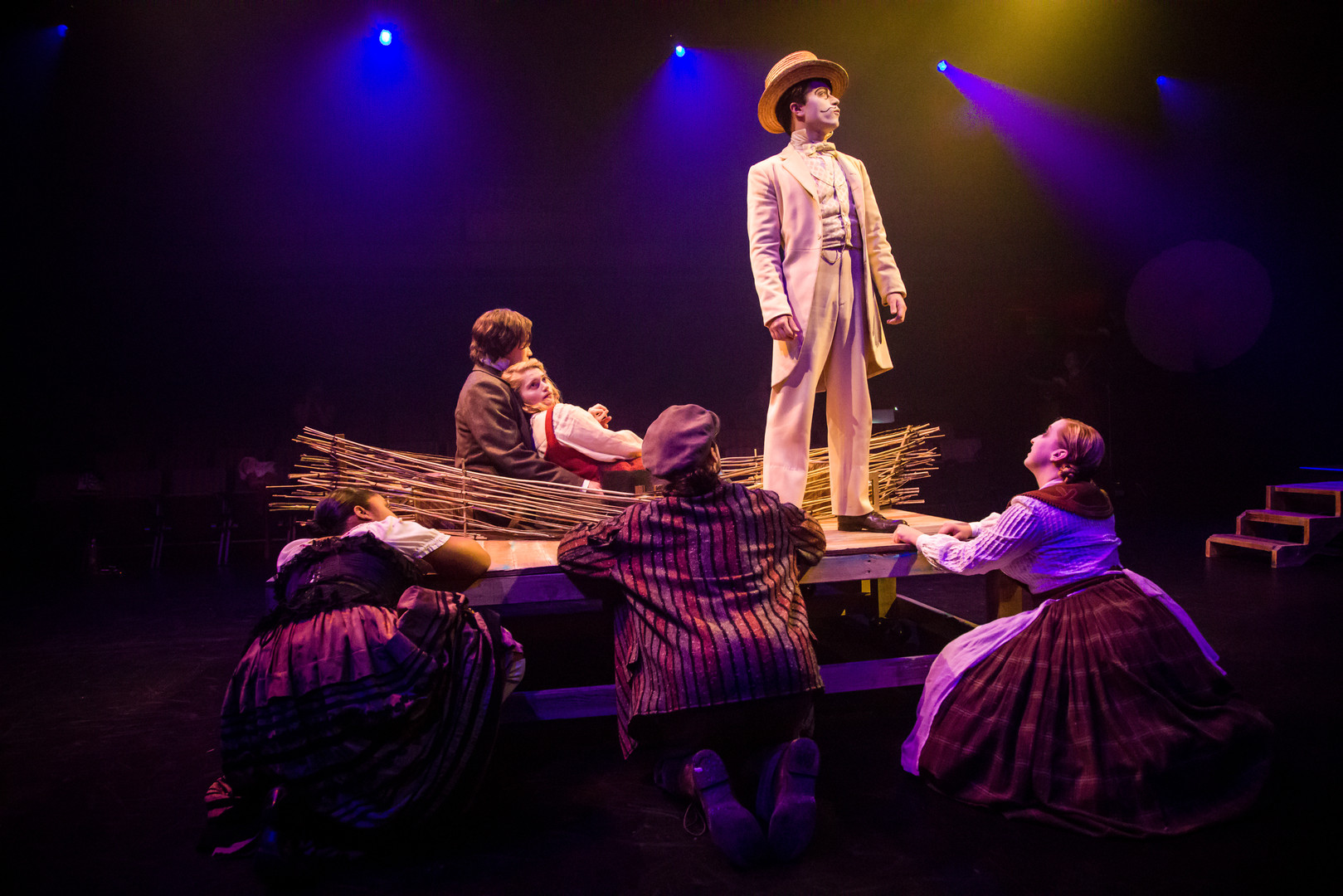 All in the Golden Afternoon-Jim Lawrenson as the White Rabbit, Eliza Shea as Alice and Luke Antony Neville as Charles Dodgson-BAM