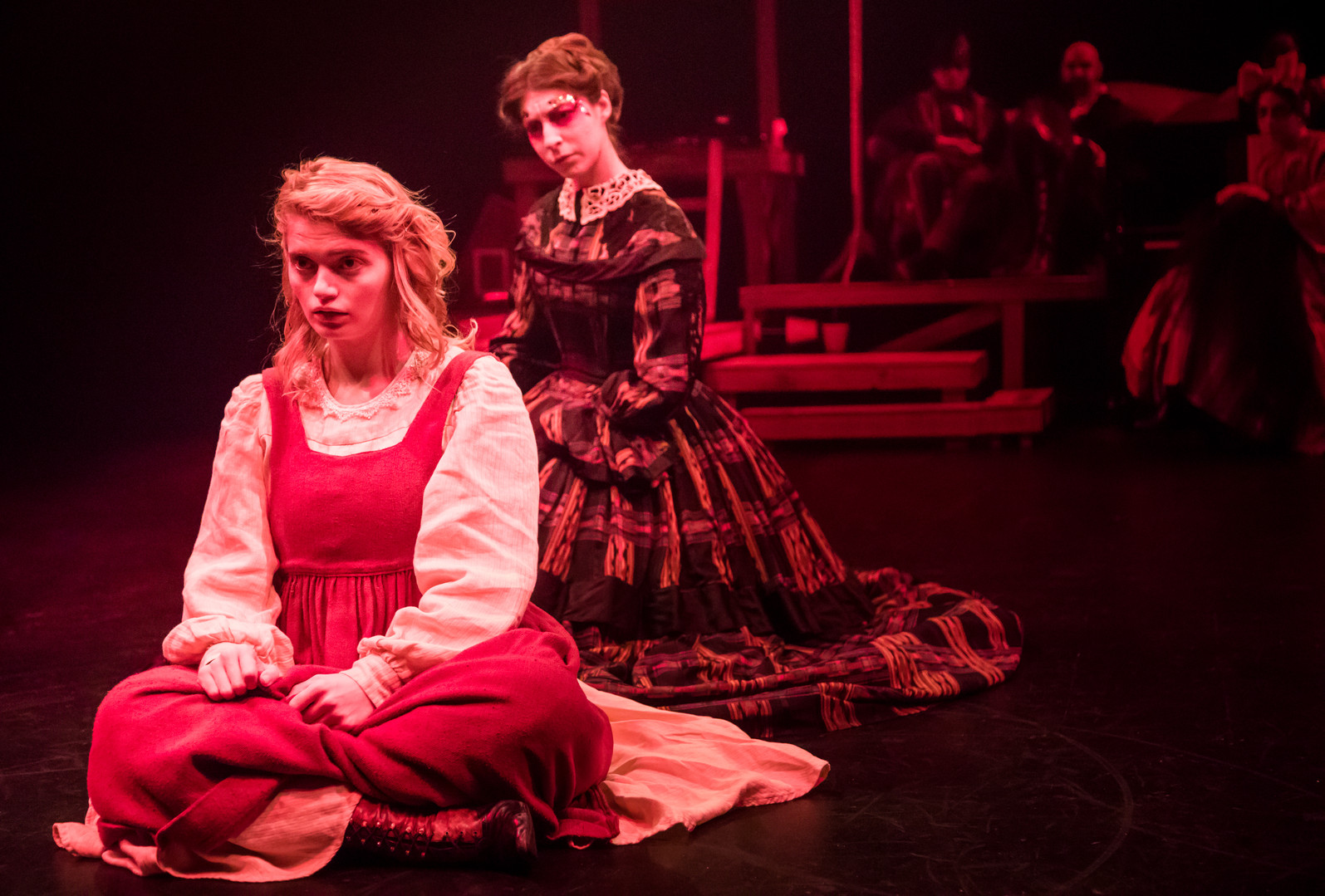 Eliza Shea as Alice and Kaitlyn Shirard as The Queen of Hearts