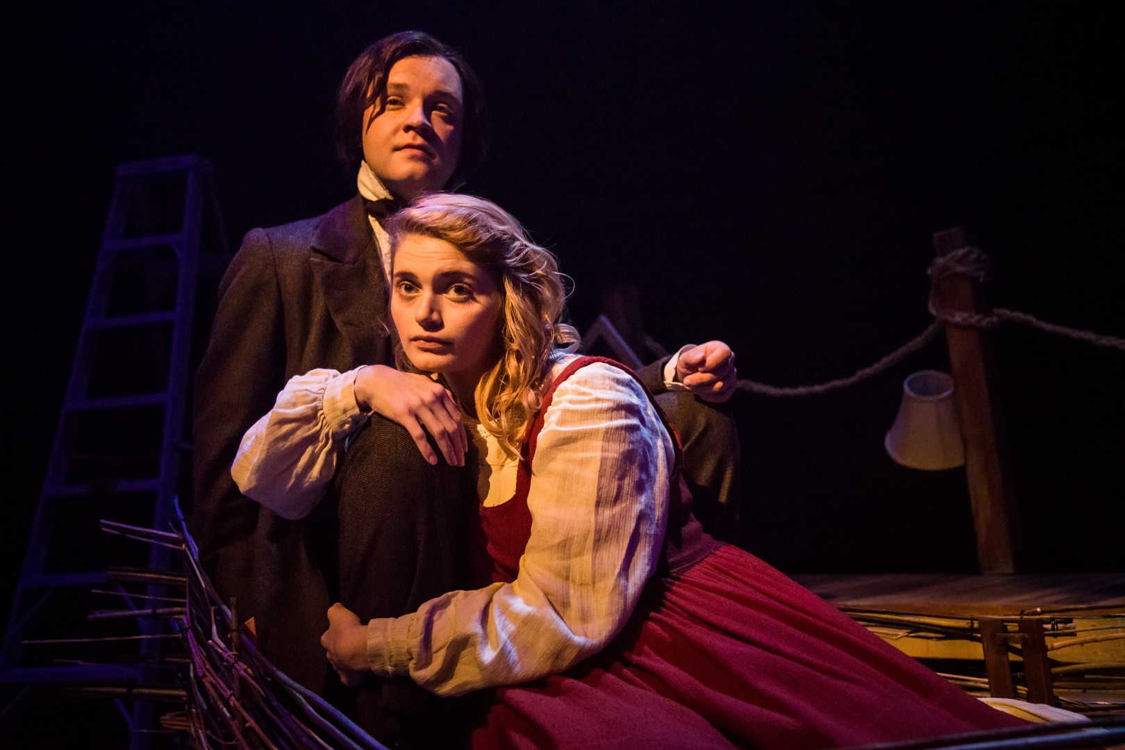 Eliza Shea as Alice and Luke Antony Neville as Charles Dodgson-BAM