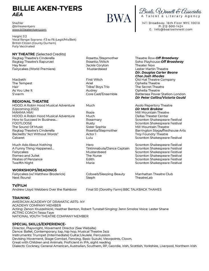 Resume Headshot Billie Aken-Tyers 2021