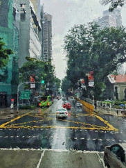 Fluid Art. Just another rainiy day in Singapore.
