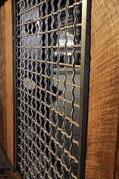 metal grate and wood