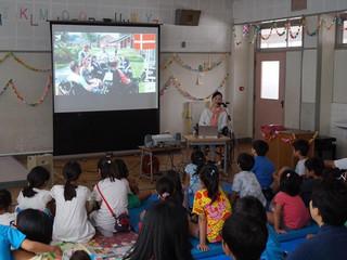 東京都日野第三小学校で講演