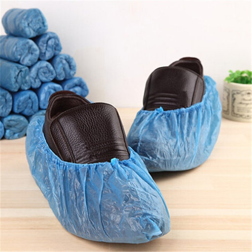 100Pcs/Set Disposable Plastic Shoe Covers