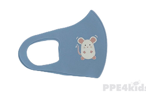 Mouse character kids reusable face mask