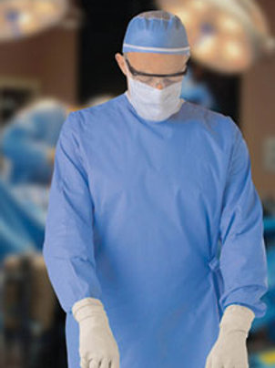 Surgical Gown, Non-Reinforced, Large, Sterile (30/case)