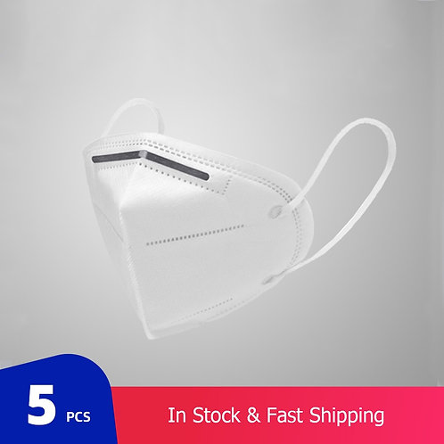 5 Pcs/Bag KN95 Face Mask With Respirator Reusable (Not for Medical Use)