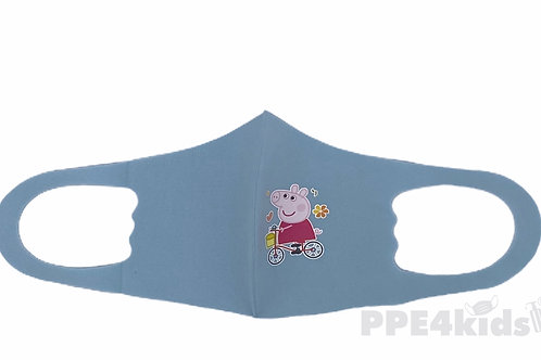Biking Peppa Kids Face Mask