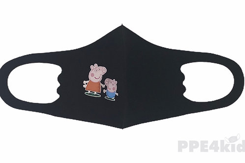 Peppa and George kids face mask