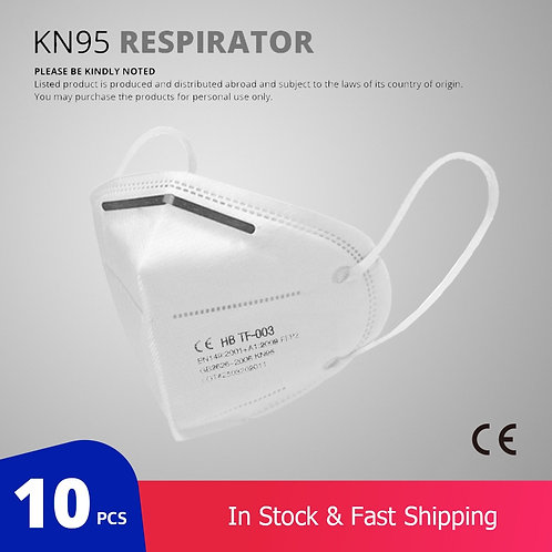 10 Pcs KN95 Face Masks (Not for Medical Use)