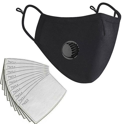 Reusable Washable Face Masks- Pm2.5 Filter Valve Respirator