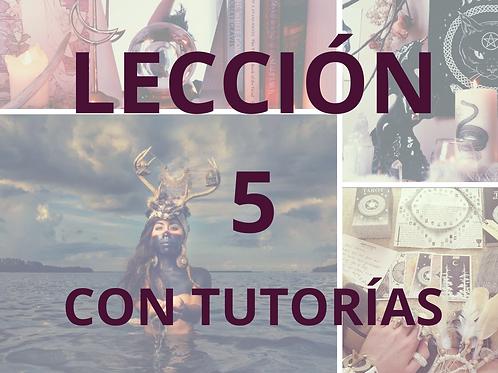 LECCIÓN 5 CON TUTORÍAS CURSO DE MAGIA NATURAL