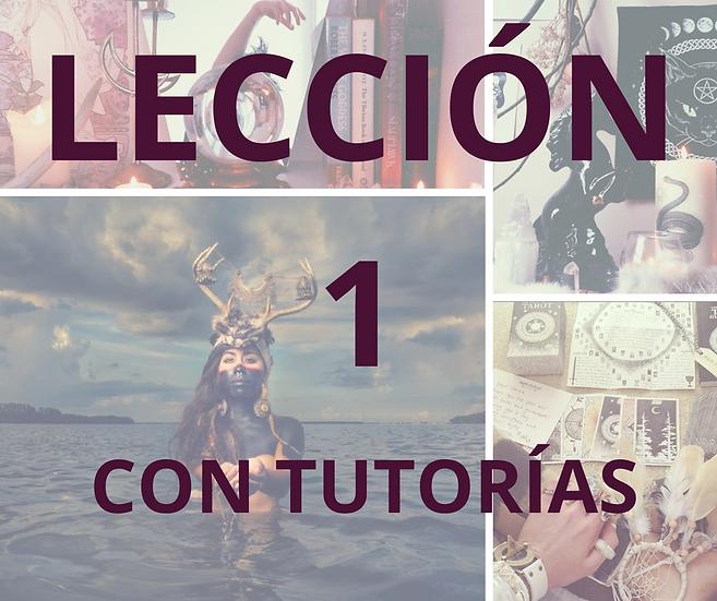 LECCIÓN 1 CON TUTORÍAS CURSO DE MAGIA NATURAL