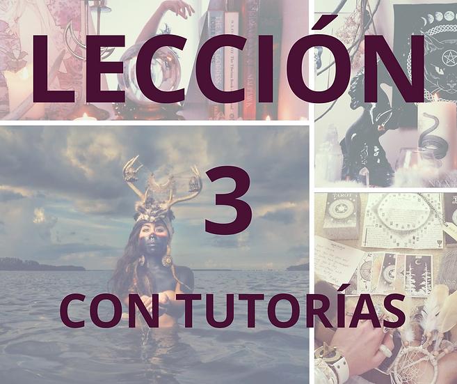 LECCIÓN 3 CON TUTORÍAS CURSO DE MAGIA NATURAL