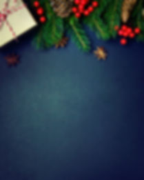 Christmas or New Year dark background, X