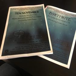Ten November, Byrthrite