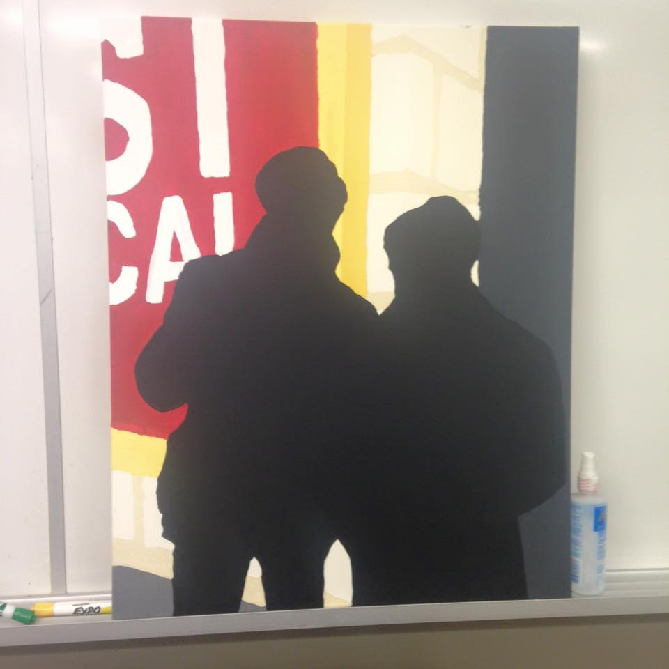 Derek and Paul silhouettes