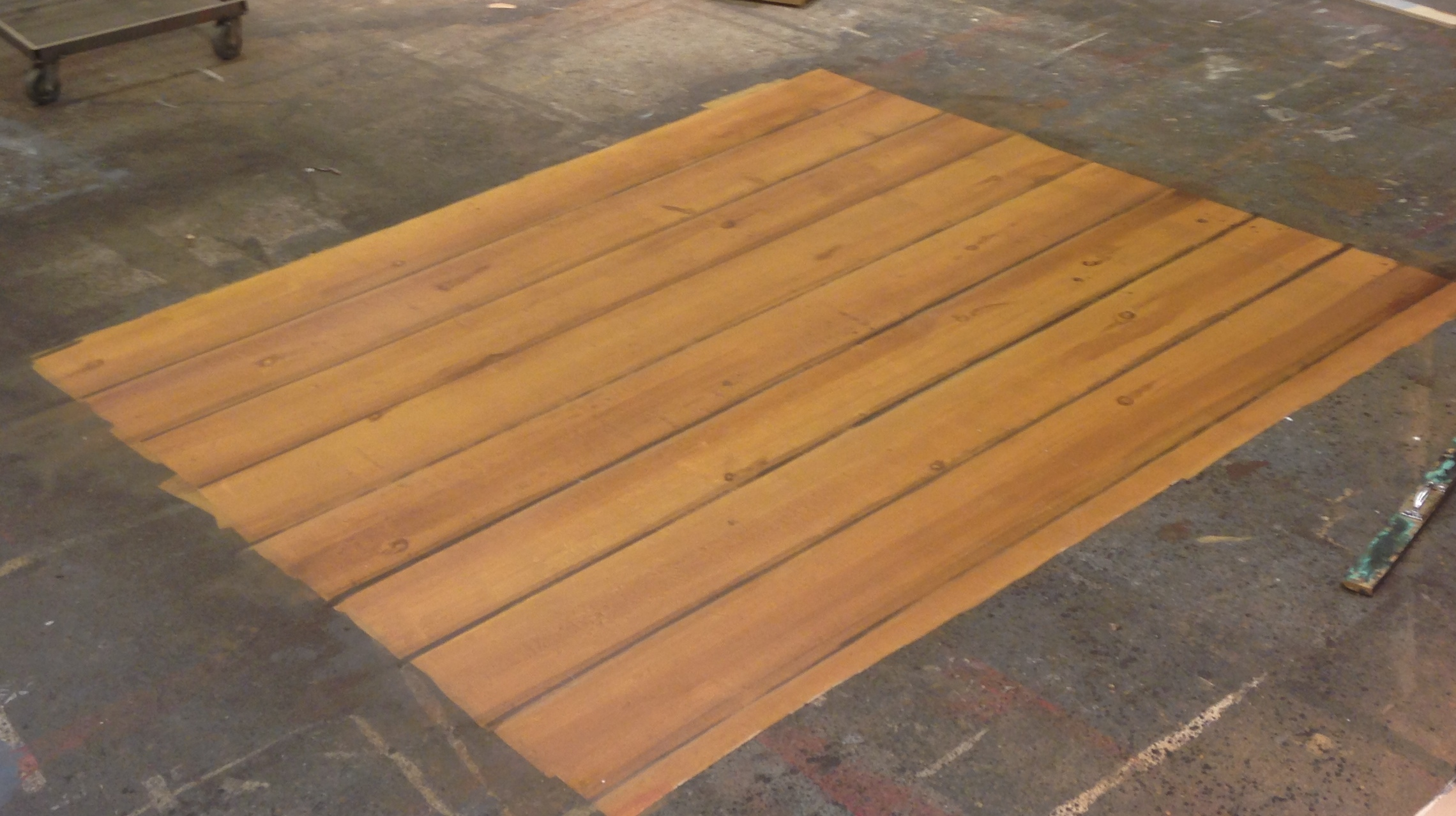Faux pine floor