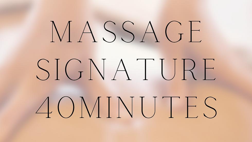 Massage Signature 40 minutes Carte cadeaux