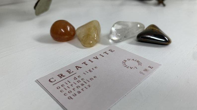 Kit d'intention cristaux - Créativité