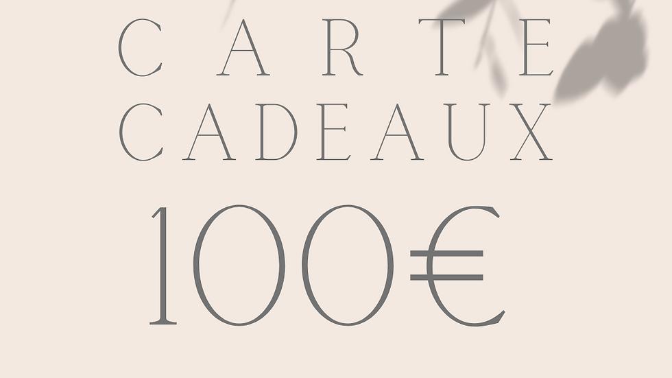 Carte cadeaux 100€