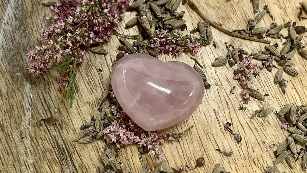 Rose quartz cœur