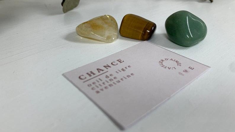Kit d'intention cristaux - Chance