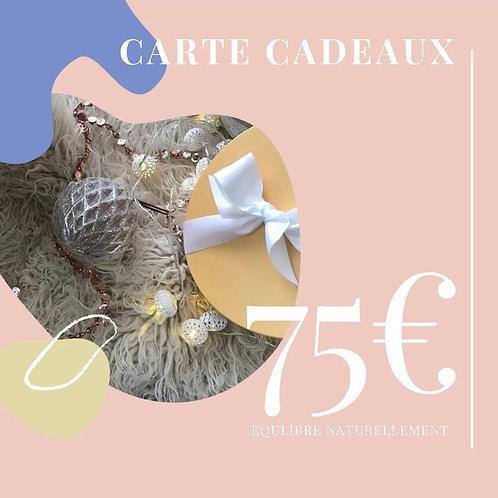 Carte cadeaux 75€