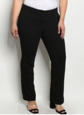 Pantalon en Gabardina Negro