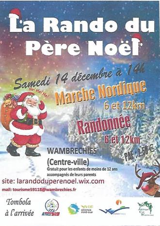 LA RANDO DU PÈRE NOEL SAMEDI 14 DECEMBRE 2019 WAMBRECHIES