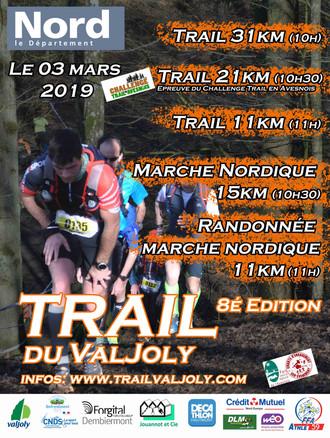 MARCHE NORDIQUE DE 15 KM DU VALJOLY