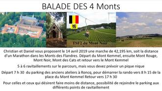 BALLADE DES 4 MONTS LE 14 AVRIL 2019